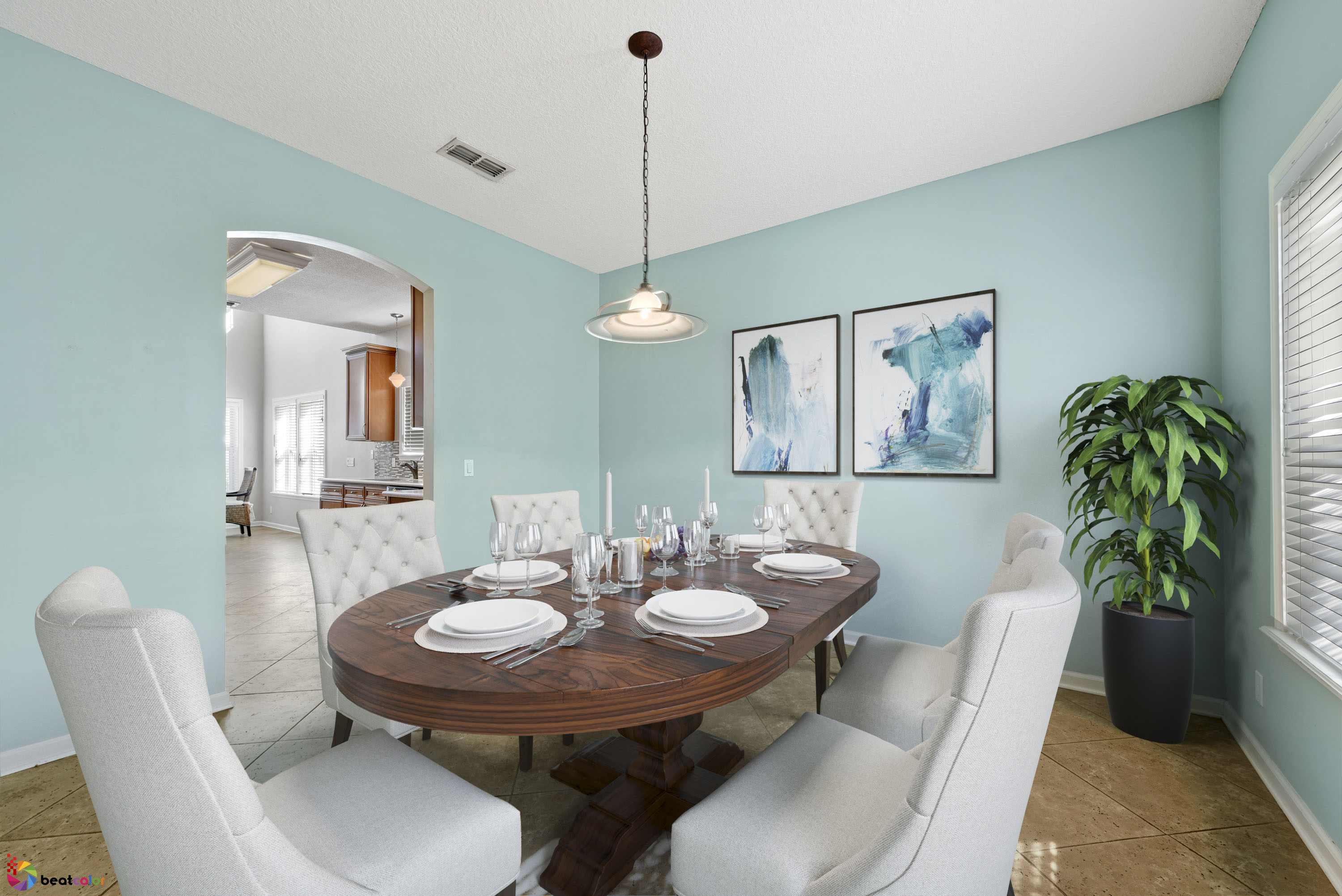 Typical Rules in Staging a Dining Room for a Home to Sale